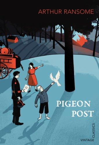 Arthur Ransome, Pigeon Post, Vintage Classics book cover illustration by Pietari Posti