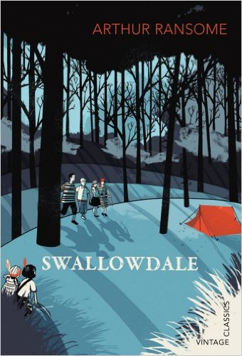 Arthur Ransome, Swallowdale, Vintage Classics book cover illustration by Pietari Posti