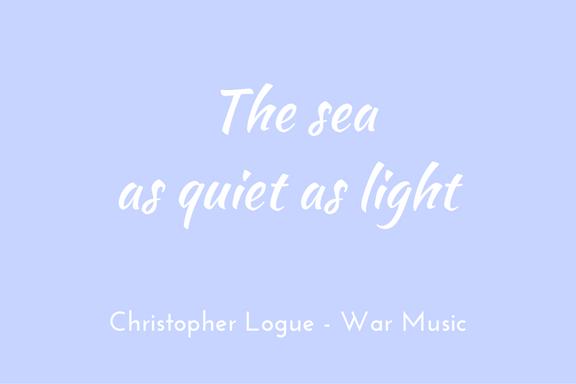 Christopher Logue - Homer - War Music - simile