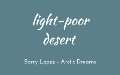 Light-poor desert
