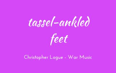 Tassel-ankled feet