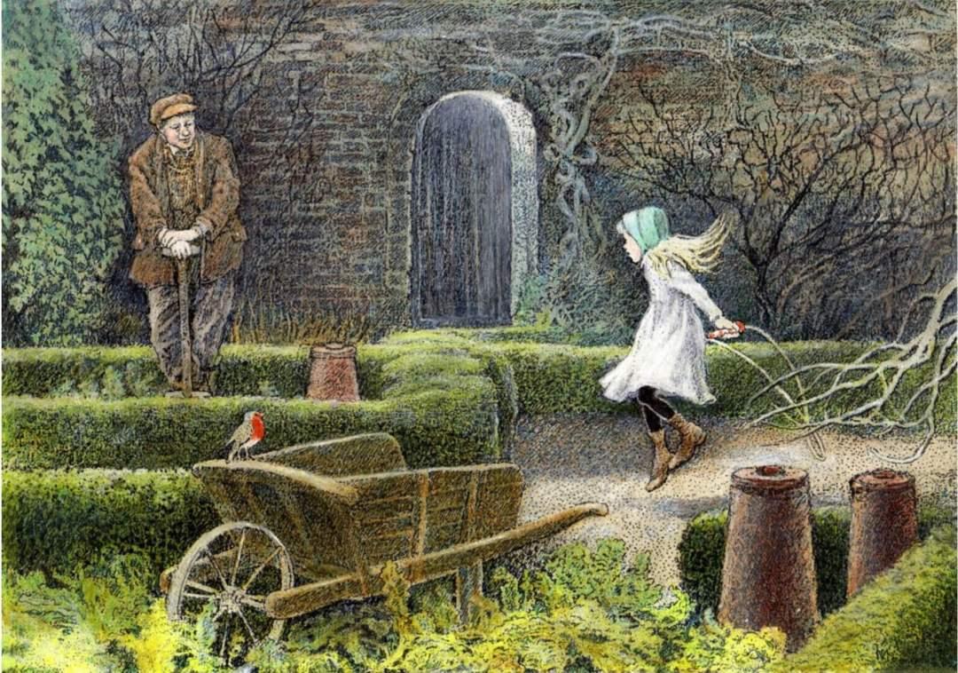 Image: The Secret Garden, Hodgson Burnett, illus. Inga Moore, Walker Books, 2009, p. 84