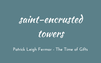 Saint-encrusted towers