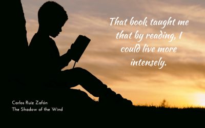 Reading to live more intensely