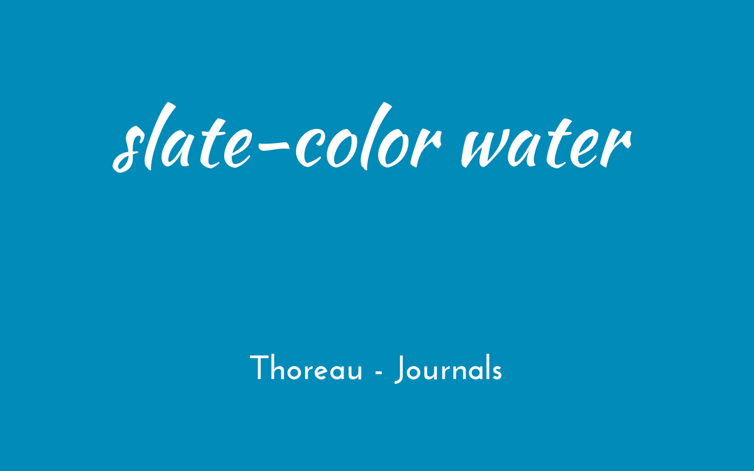 Thoreau - Journal - slate-color water