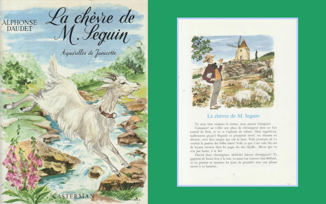 Book design and illustration - Daudet - La chèvre de M Seguin