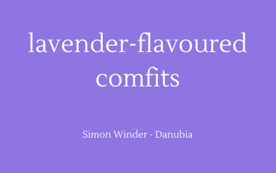 Lavender-flavoured comfits
