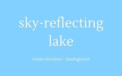 Sky-reflecting lake