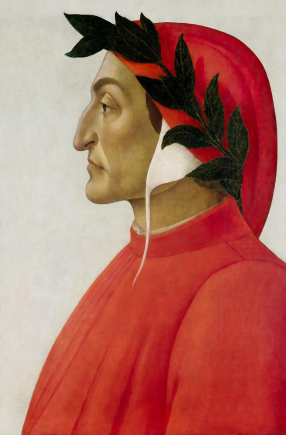 Portrait of Dante, Botticelli, 1495