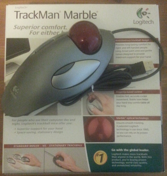 Logitech TrackMan Marble Mouse Top View