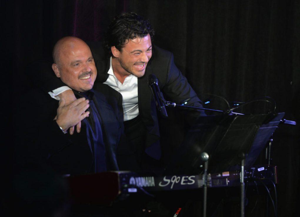 Musician Walter Afanasieff (L) and singer Vittorio Grigolo. (Michael Buckner/WireImage)