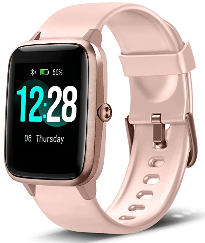 Rose gold smart watch from Letscom