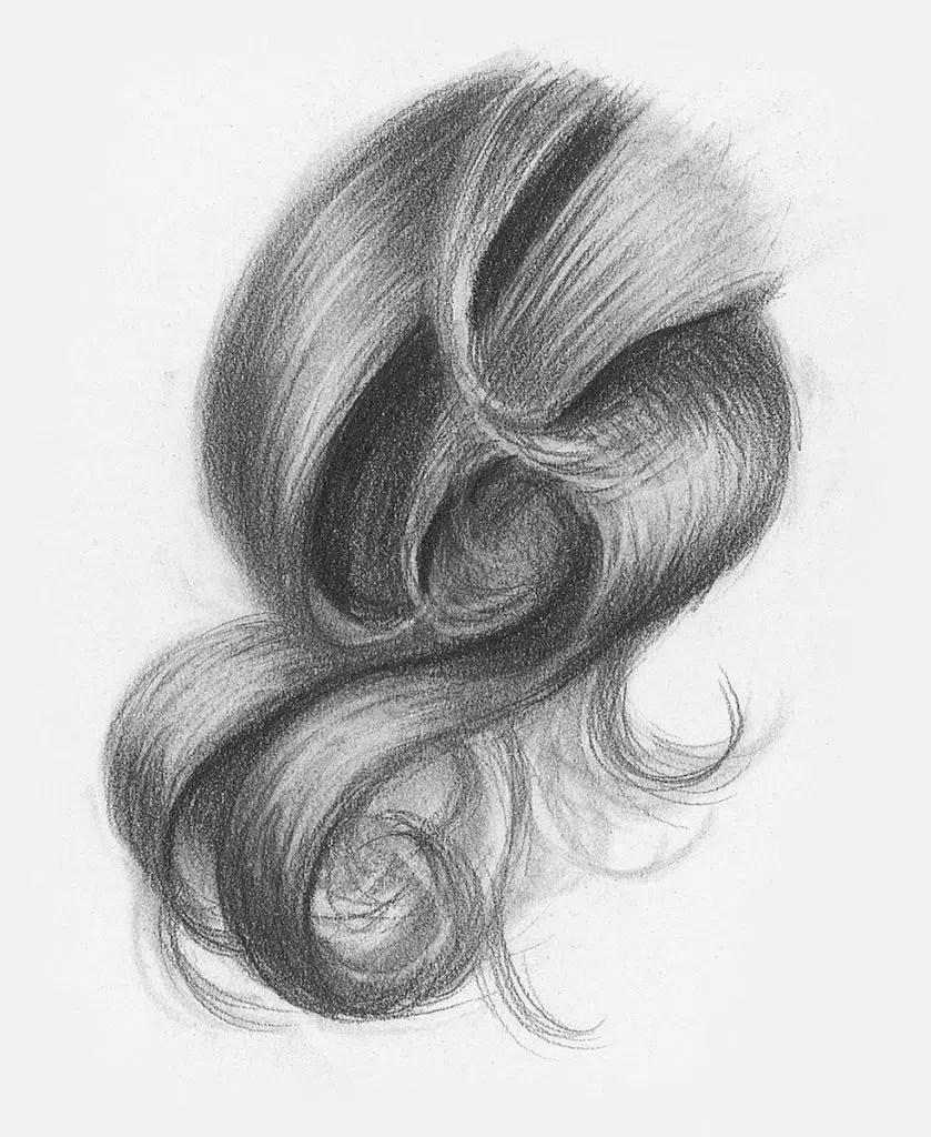 Demonstração de cabelos cacheados, etapa 3 | Lee Hammond | Desenho de cabelo para iniciantes em grafite e lápis de cor | Rede de Artistas