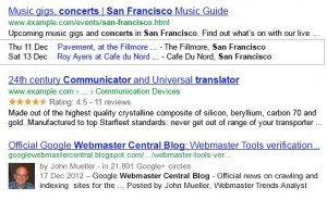 rich snippets for hummingbird