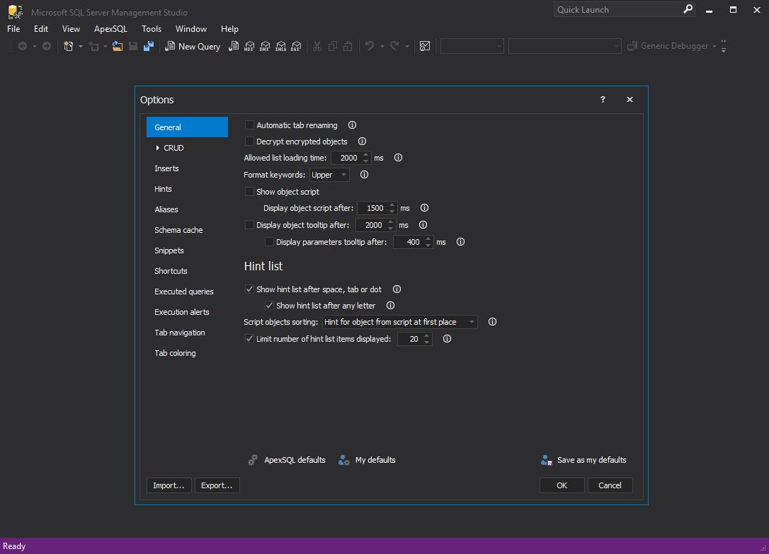 Setting Up The Dark Theme In Sql Server Management Studio