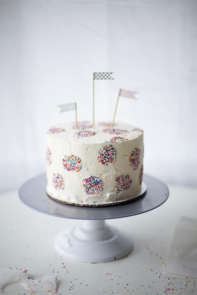 Polka Dot Inside And Out Birthday Cake Handmade Charlotte