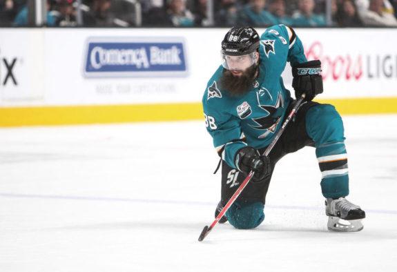 Brent Burns #88 of the San Jose Sharks