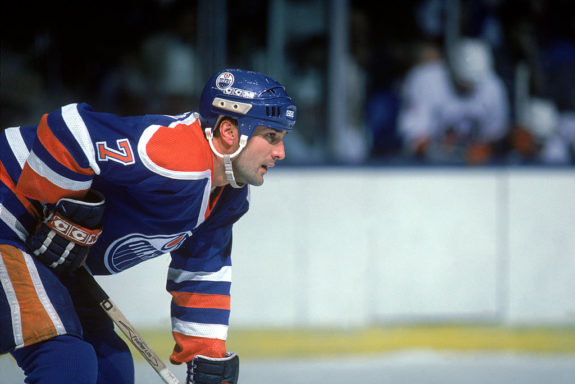 Defenseman Paul Coffey of the Edmonton Oilers