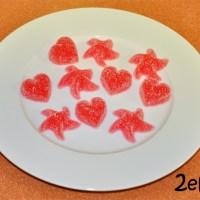 Golosinas de gelatina caseras
