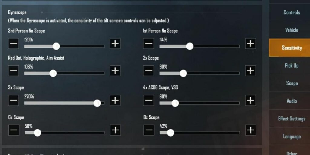 How to adjust sensitivity to improve aim in PUBG and Fortnite Gyroscope