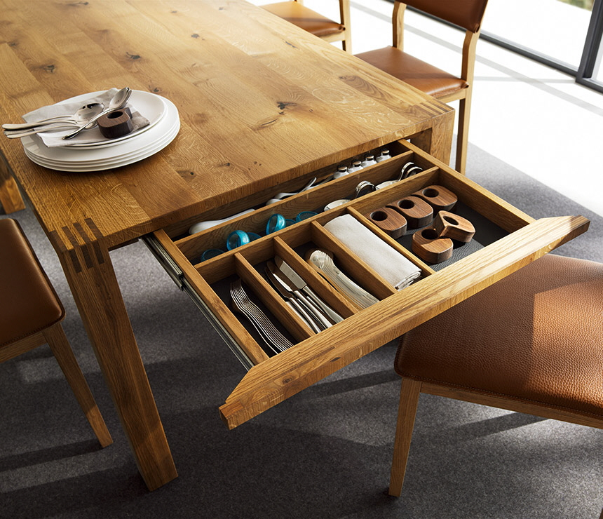 an uncommon storage space the dining