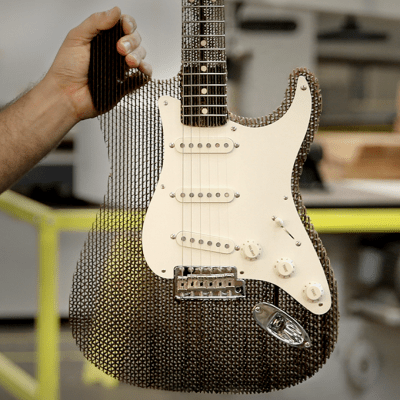 Making A Working Fender Stratocaster Out Of Cardboard Core77