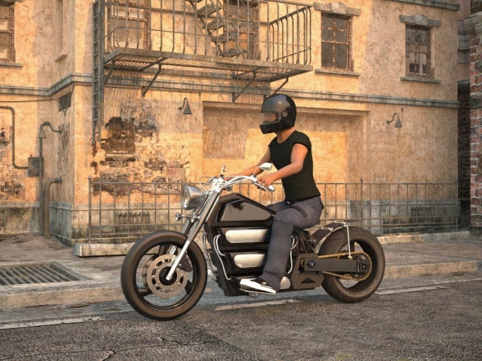 Electric Bobber Motorcycle By Michael Logue At