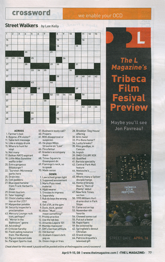La Times Crossword Answers 19 Jun 16 Sunday