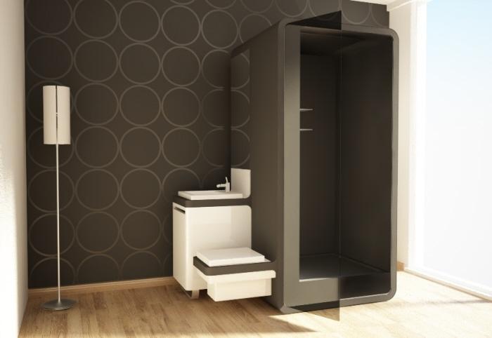 Aquabox un m dulo de ba o completo escenarq architects - Modulos de bano ...