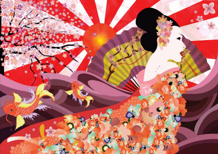 Japanese Culture Vector Art By Isabelle Loi At