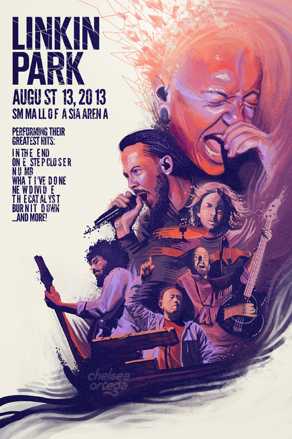 linkin park concert poster by francesca