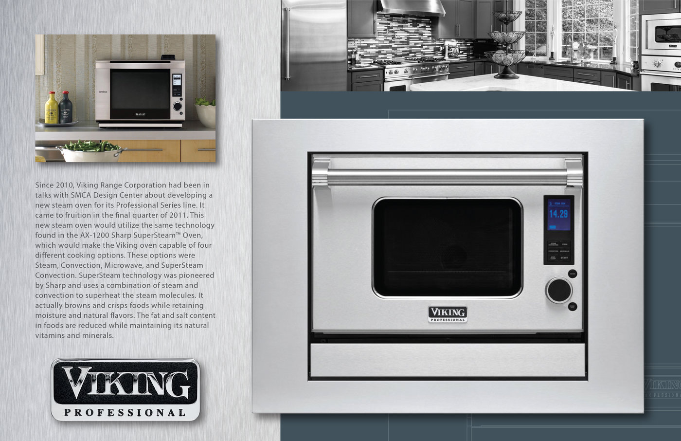 viking combi steam convect oven by lee