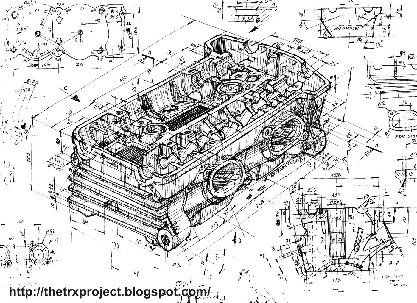 Trx 850 And Nsr 125 Sketches By Marcos Armero At Coroflot
