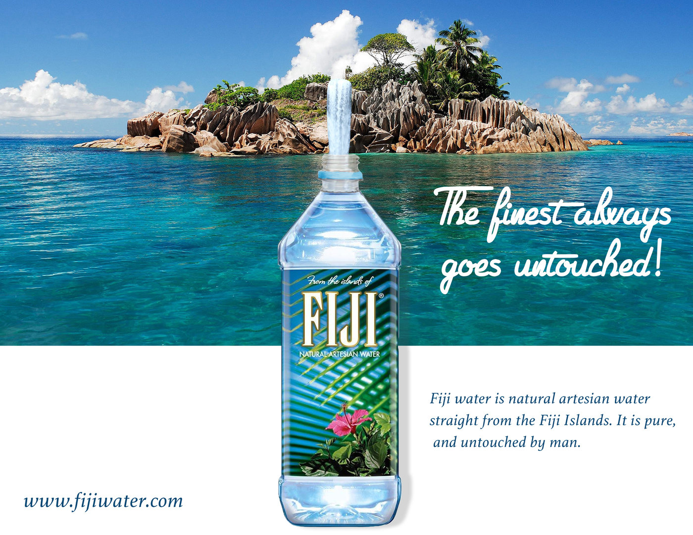Fiji Water Poster By Quinique Dozier At