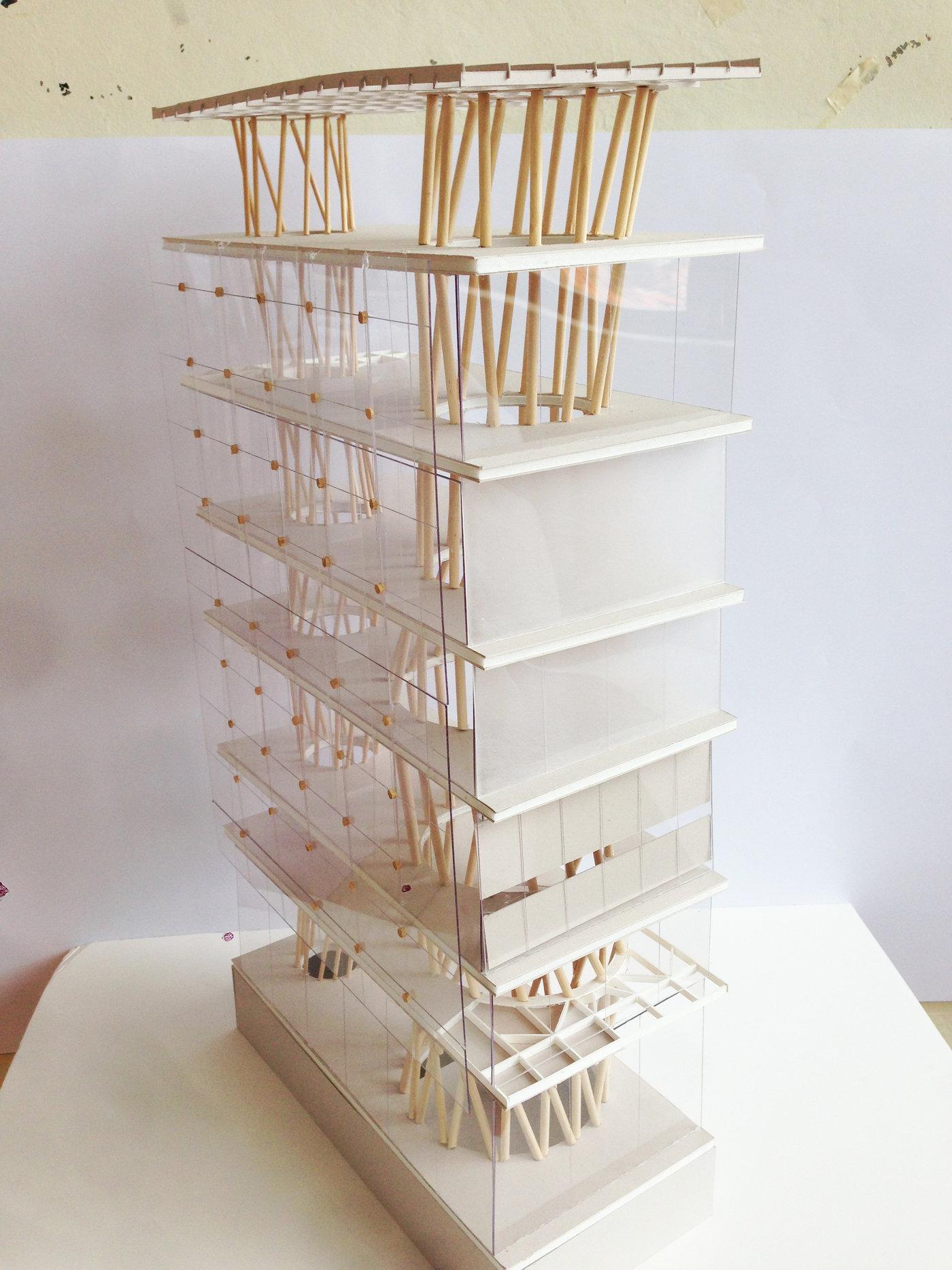 Sendai Mediatheque Physical Model By Alexander Kochman At