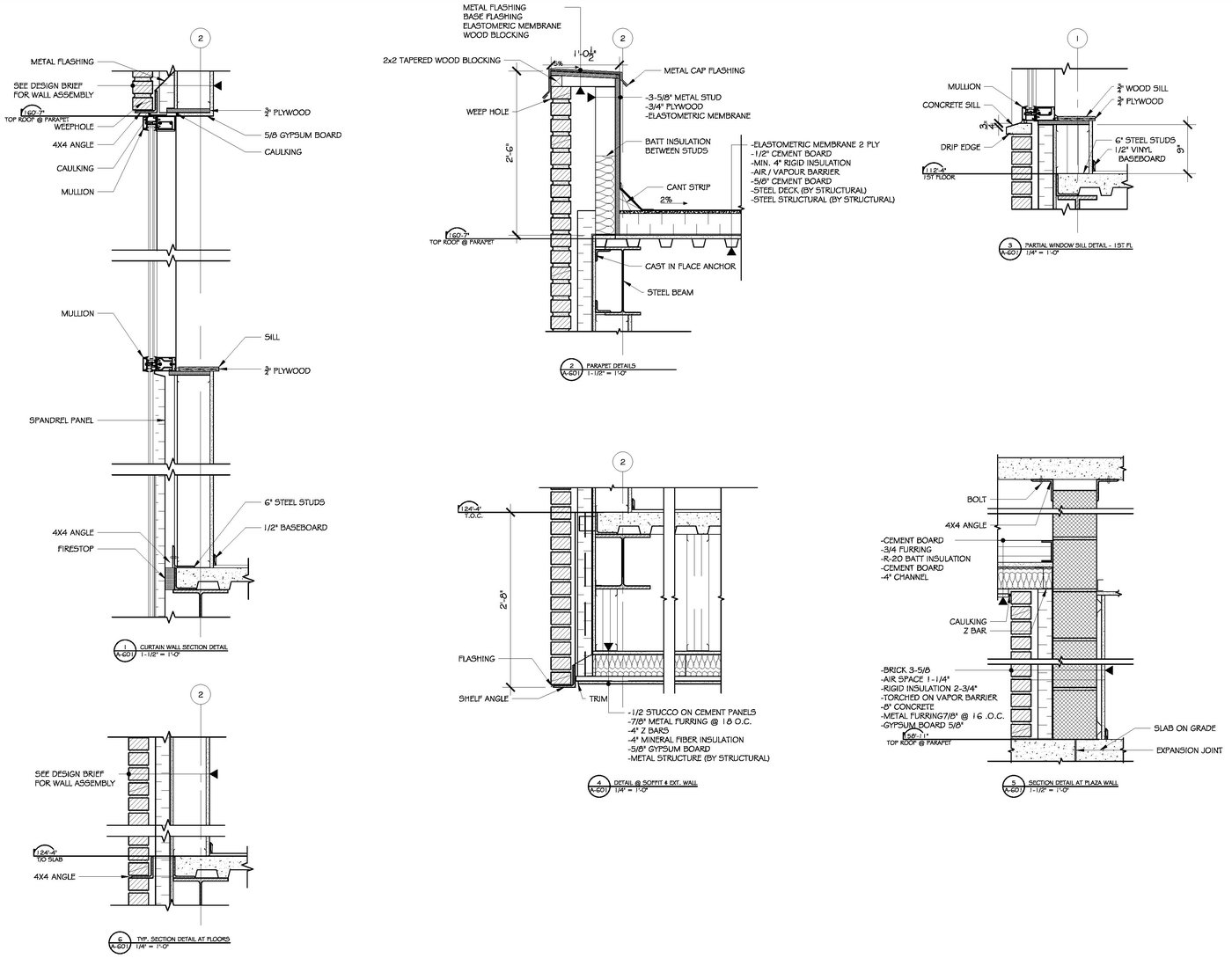 Wall Sections Amp Detail Drawings By Raymond Alberga At