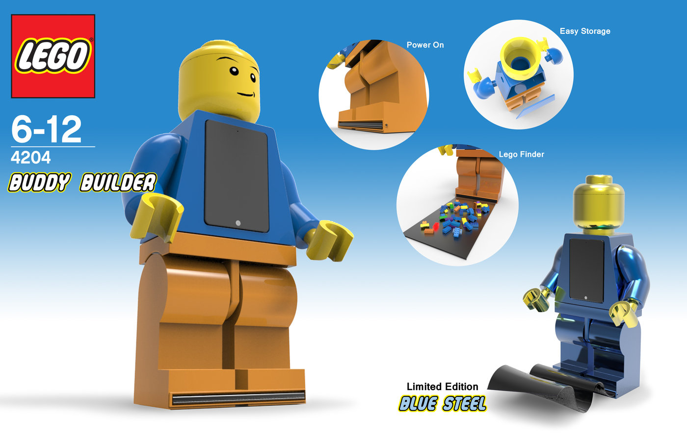 Buddy Builder   Lego Finder Scanner by Tom Guess at Coroflot com Created using Rhino and Keyshot