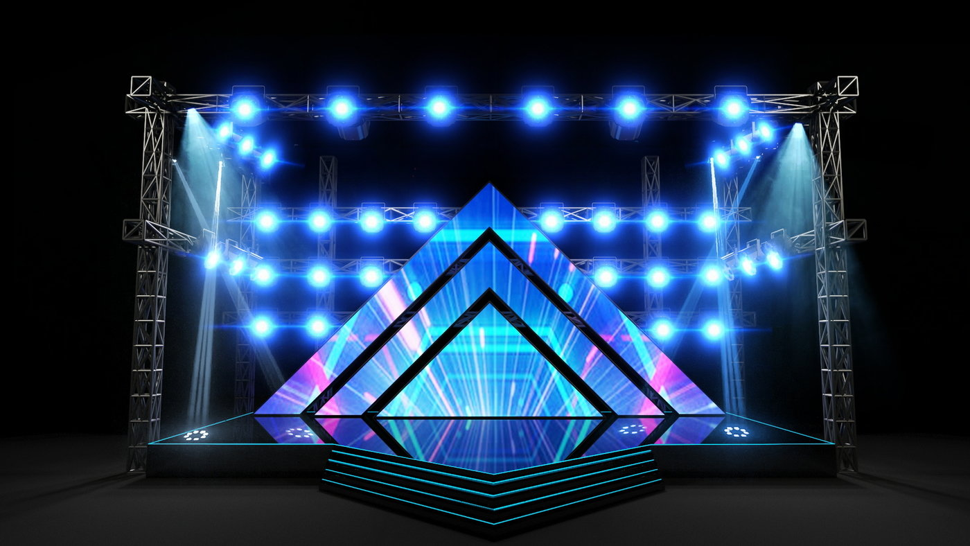 Corporate Stage Design By Umair Iftikhar At