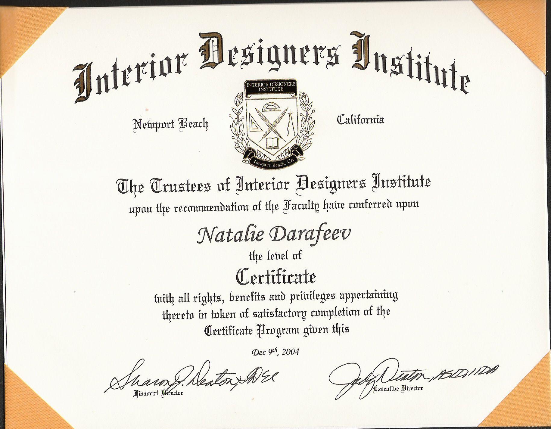 Interior Decorator Degree