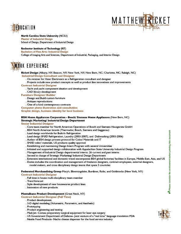 Resume Patents Awards By Matthew Ricket At