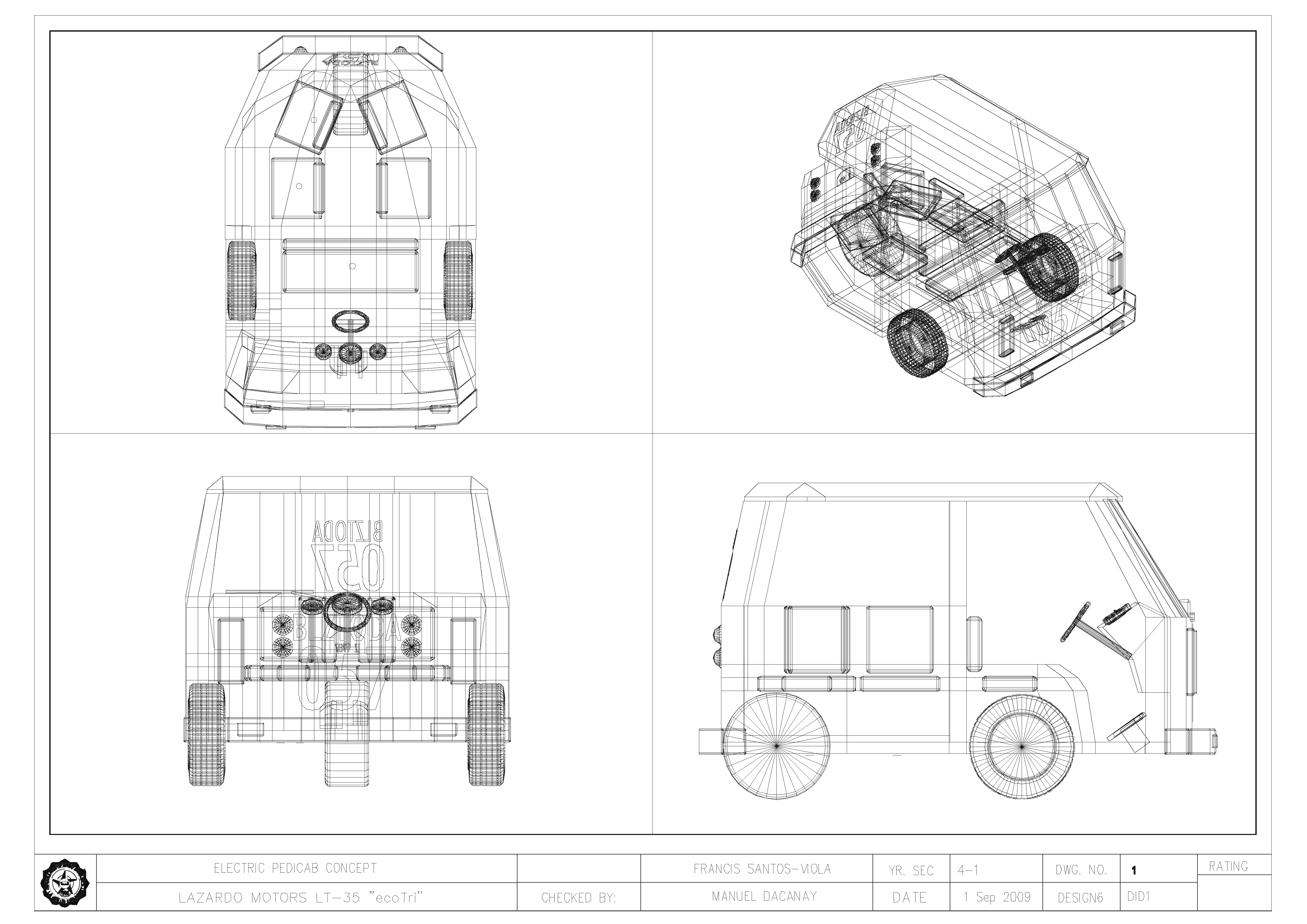 Lt 35 Electric Vehicle By Francis Santos Viola At Coroflot
