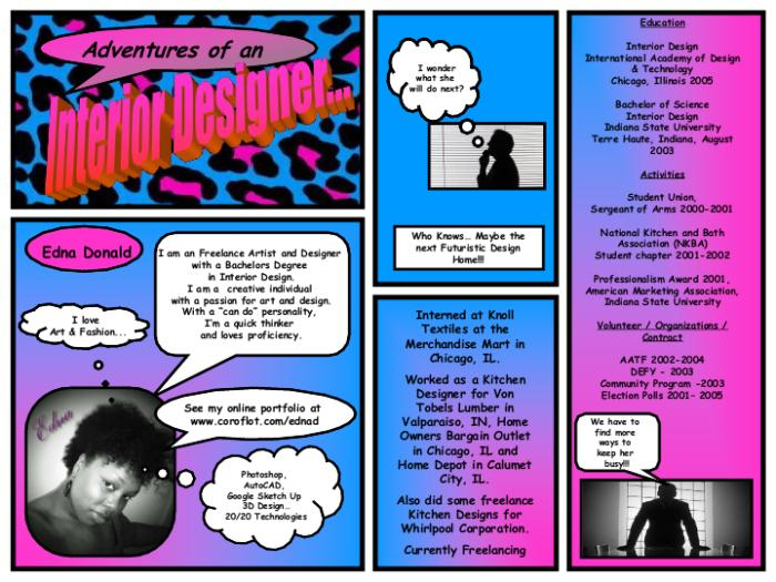 Comic Strip Resume By Edna Donald At