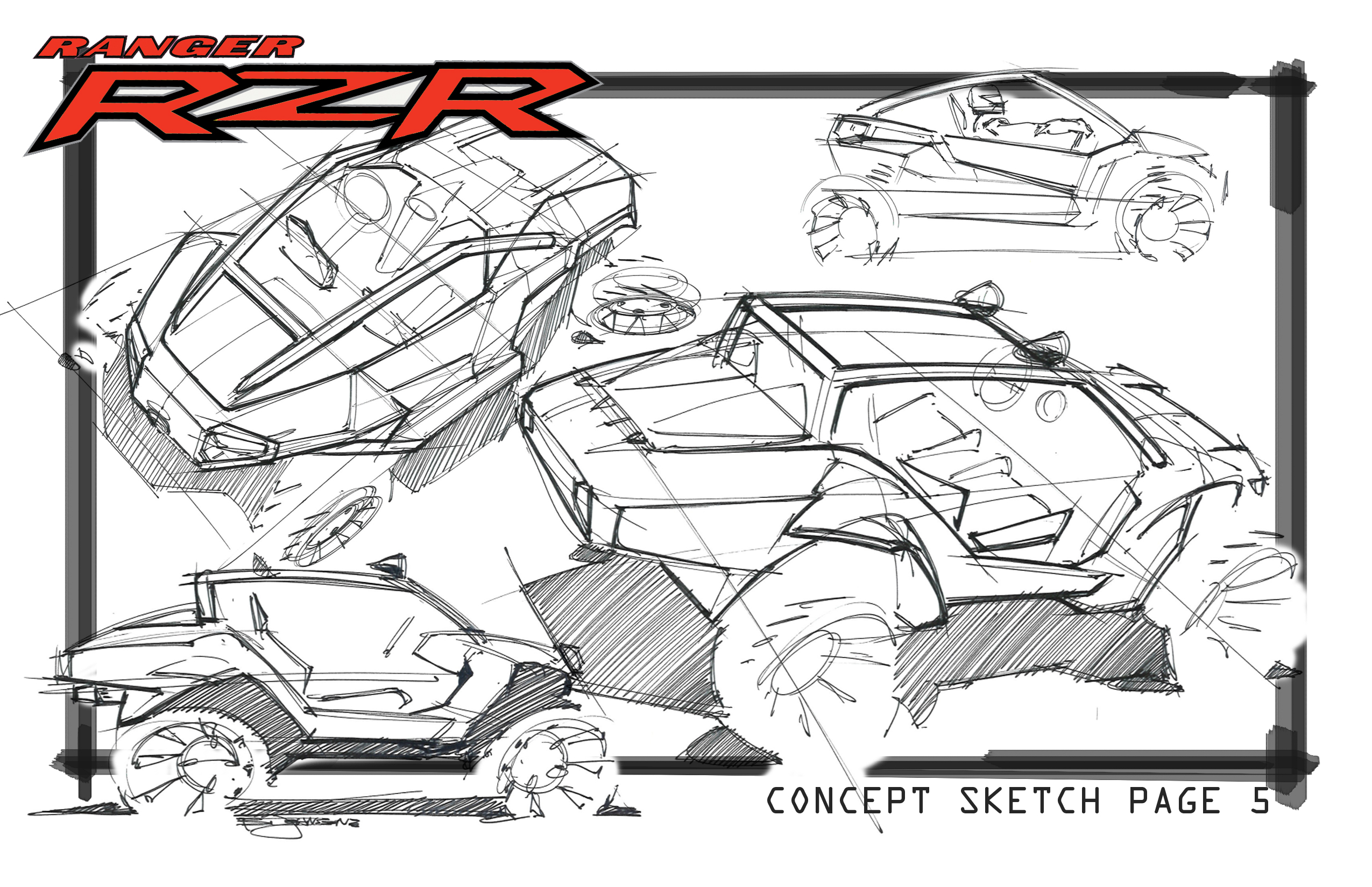 Polaris Rzr Xp Utv Clip Art Sketch Coloring Page