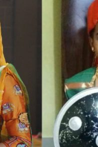 A Still Of Prajakta Gaikwad And A Kid Dressed Up Like Her