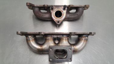 Fiesta ST exhaust manifold for Borg Warner