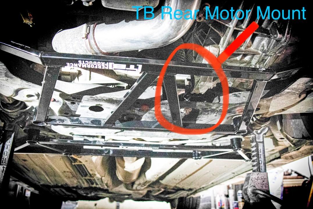 TB Performance rear motor mount