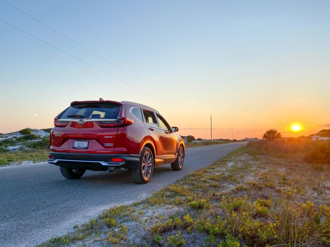 Honda CR-V hybrid sunset
