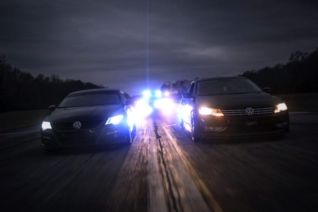 Police Chase VW Passat CC