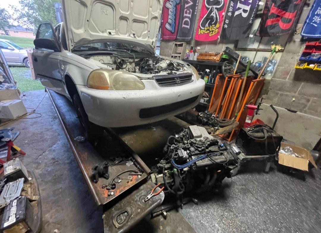 B Series Civic Swap