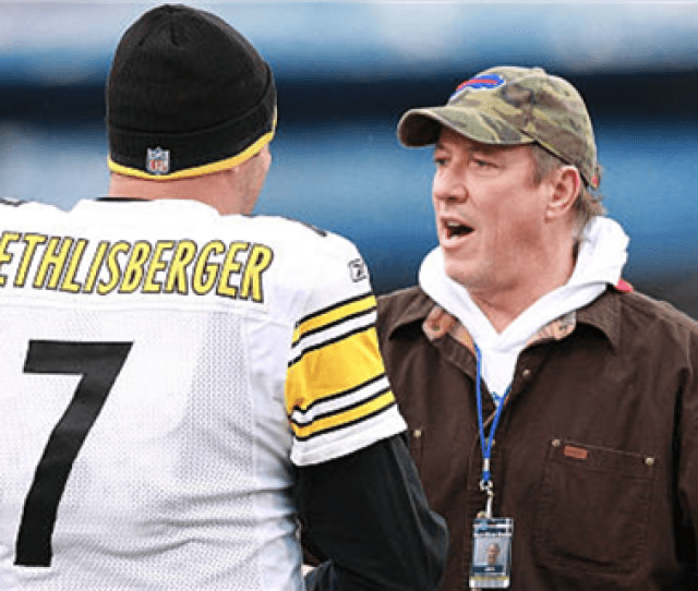 Pittsburgh Native Jim Kelly Has Developed A Close Relationship With Ben Roethlisberger Photo Getty